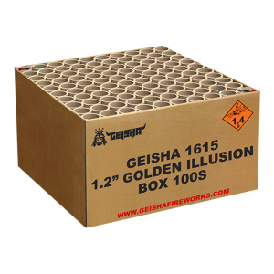 1.2″ Golden Illusion 100 shots - ZFC1615 G.W. 22.5KG