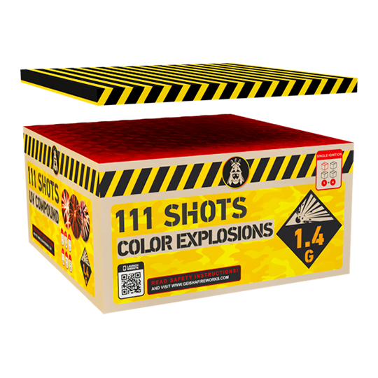 Colorful Explosions 111 shots - 1131 gram