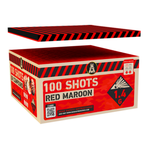 Red Maroon 100 shots - 1105 gram