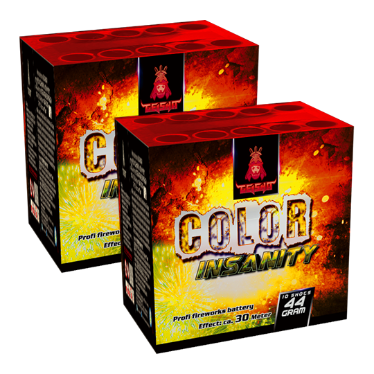 Aftershock Color Insanity 10 shots - 44 gram