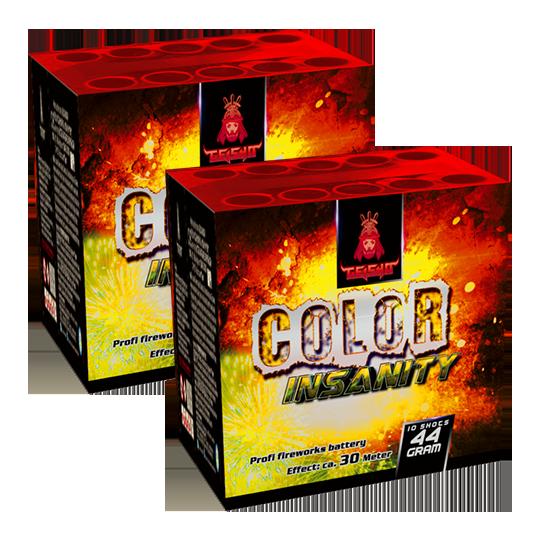 Aftershock Color Insanity 10 shots - 44 gram 2 stuks