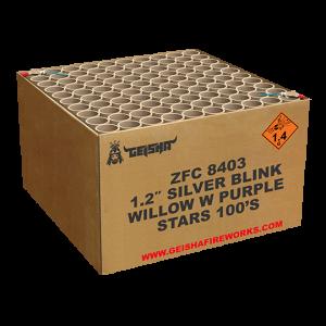 1.2″ Silver blink willow w purple stars ZFC8403 100 shots - G.W. 22.5KG