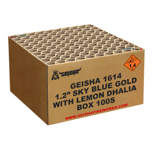 1.2″ Skyblue Gold with Lemon Dhalia 100 shots - G.W. 22.5KG