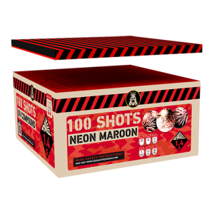 Neon Maroon Compound Box 100 shots - 1500 gram