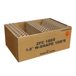 1.0″ W-Shape EXP 108 shots Compound ZFC1885 - G.W. 22.5 KG