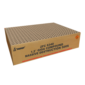 1.2″ Massive Destruction Giga Compound ZFC8340 500 shots – G.W. 82.5KG